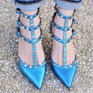 New Valentino Garavani Rockstud Kitten Heels 36